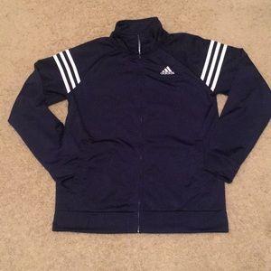 Boys Adidas zip up jacket. Brand new cond. 14-16.